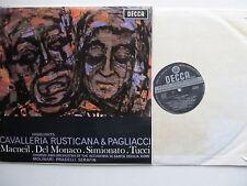 """Cavalleria Rusticana & Pagliacci - 12"""" Decca SXL 6012 W/B grooved  1961"""