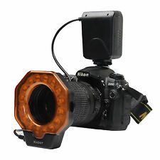 Macro Ring LED Flash Light for Canon Nikon Olympus Olympus Pentax DSLR Cameras