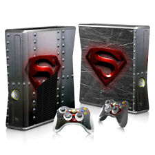 Xbox 360 Slim - Superman Sticker Set Protective Skin Console & Controllers -0131