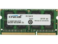 Crucial 8GB Kit DDR3 1600 MHz PC3-12800 DDR3L Laptop RAM Sodimm Memory