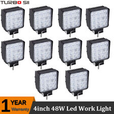 10x48W 4inch Led Work Lights Spot Square OffRoad SUV 4X4 Boat FORD 12V 24V Truck