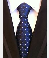 SALE New Blue White Stripe Mens Chinese Silk Tie UK Seller Wedding Shirt Suit