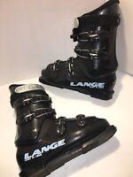 Lange Comp 60 Team Fit Downhill Ski Boots Mondopoint 26.5 8.5 US Mondo Black