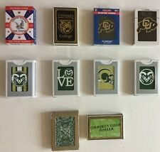 CO Playing Cards 19 Decks University Colorado Buffaloes State Rams NCAA College