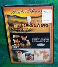 New Alamo Butch Cassidy Sundance Kid Hang 'Em High Western Triple Feature Dvd