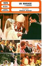 FICHE CINEMA : UN MARIAGE - Burnett,Dooley,Altman 1978 A Wedding