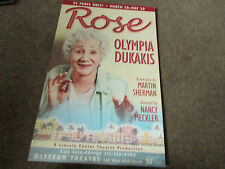 ROSE Olympis Dukakis LYCEUM Theatre 45th Street Board Type USA / American Poster