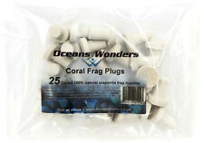 25 CURED REEF PLUGS FOR LIVE CORAL FRAG PROPAGATION by OCEANS WONDERS