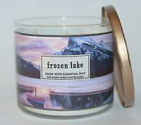 BATH BODY WORKS FROZEN LAKE SCENTED CANDLE 3 WICK 14.5OZ LARGE LAVENDER CYPRESS