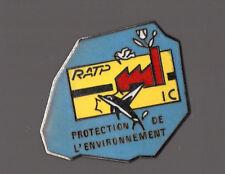 Pin's RATP / Protection de l'environnement (centre jaune)