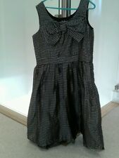 BNWT F & F TESCO age 10/11 years black &  Silver Prom or Party  dress