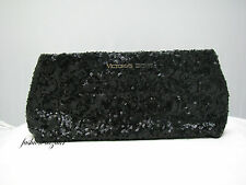 Victoria's Secret LIMITED EDITION BLACK SEQUIN CLUTCH - PURSE  >>NEW WITH TAG <<