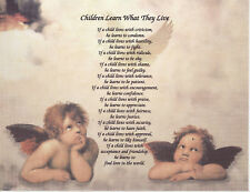 Children Learn What They Live Poem Personalized Name