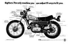 1970 KAWASAKI 350cc MOTORCYCLE  ~  ORIGINAL 2-PAGE PRINT AD