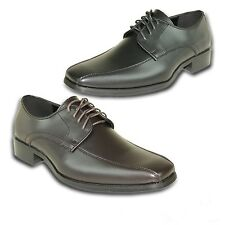 VANGELO/TUX-5 Wrinkle Free Mens Dress Shoes Bicycle Toe Black Matte Size 8M