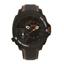 Hugo Boss Orange 1513221 Herrenuhr Schwarz Lederband Quarz