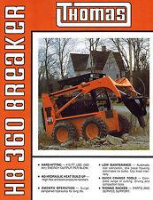 THOMAS HB360  BREAKER  SKID STEER LOADER BROCHURE