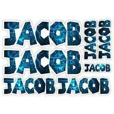 JACOB Vinyl Name Stickers A5 Sheet Computer Chip Laptop Name Kids Gift #30008