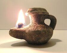 Biblical Oil lamp Holy Land Ancient Jerusalem Roman Herodian Clay Pottery Menor