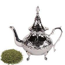 orientalische Teekanne Meyza 600ml Messing verchromt