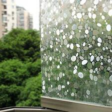 Static Cling Removable Pebble Glass Sticker Bathroom Slide Door Window 45x100cm