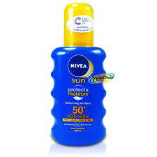 Nivea Moisture Sunblock Spray SPF 50 200ml UVA UVB Protection Water Resistant