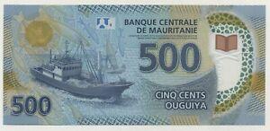 Mauritania 500 Ouguiya 2017 Pick 25 UNC Uncirculated Banknote