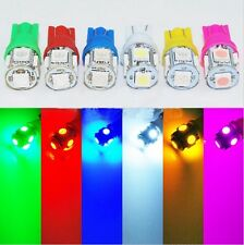 50pcs T10  color 5SMD Wedge Lamp 5050 LED Light Bulbs 12v 194 168 red blue green