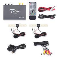 HD DVB-T2 Car Vehicle Mobile Digital TV Box Dual Antenna Analog Tuner Receiver
