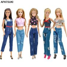 5Set Fashion Outfits For 1/6 Doll Short Top & Jeans Pants Trousers Clothes Toy