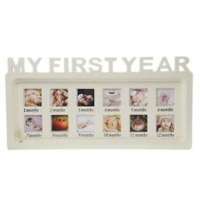 Shabby Chic White 12 Month Baby My 1st Year Wooden Photo Frame Gift