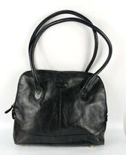 Ashwood Large Black Leather Shoulder Bag 40cm X 30cm