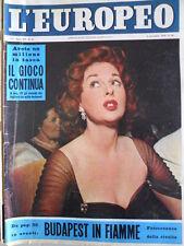 L' EUROPEO n°45 1956 Budapest in fiamme - James Dean non è morto [C77]