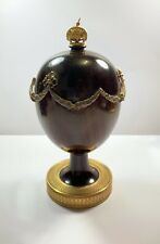 Theo Faberge St Petersburg Swag Egg Signed Model 137 Or 750 Desk Stand