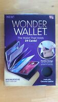 Wonder Wallet - RFID Wallet As Seen on TV, Black Leather BRAND NEW IN BOX