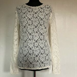 French Connection Ivory Lace Top Size 12