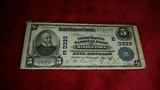 1902 $5 Blue Seal National Bank Of Middletown Large Note