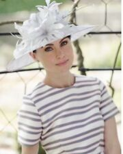 SILVER  GREY SINAMAY WEDDING ASCOT HAT MOTHER OF THE BRIDE