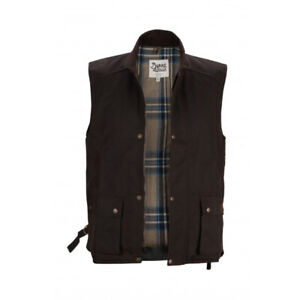 Burke and Wills | The Capricorn Oil Skin Vest - Brown 20% OFF !!