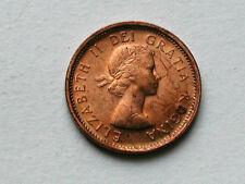 Canada 1958 ONE CENT (1¢) Queen Elizabeth II Coin - UNC RED/BROWN