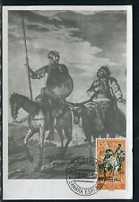 Espagne - Carte Maximum 1953 - Don Quichotte