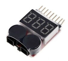 1-8S Battery Tester Low Voltage Buzzer Alarm Indicator