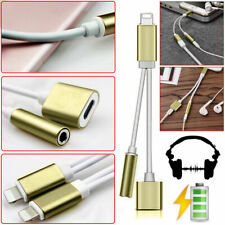 2 in 1 Lightning Charging to Aux Headphone Adaptor Jack Cable For iPhone 5/6/7/8