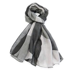 Contemporary Print Multi Colour Womens Fashion Scarf (Grey)