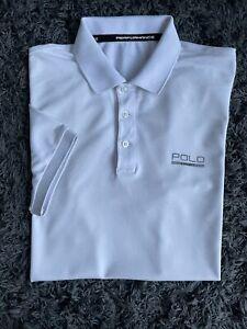Mens White Polo Ralph Lauren Polo Sport Polo Shirt Size Small