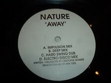 "NATURE - Away - UK 4-track 10"" DJ Promo - White Label"
