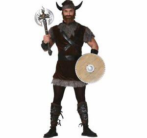 Wikinger Kostüm Bjarne für Herren Gr. M-XL braun Normanne Fasching Karneval