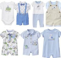 Gymboree Peter Rabbit 0-3-6-12 Bodysuit 2 Piece Romper Blue Boy Beatrix