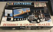 Revell Electronic Peterbilt & Gravel Trailer Germany very Rare model kit 1989