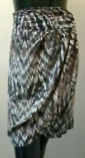 Short Wrap Skirt, WITCHERY, Various Shades of Brown, Size 10